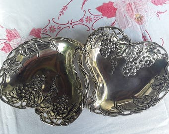 Flat silver plated, antique, charming