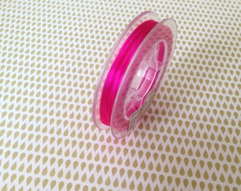 Stretch elastic thread - sold by the yard - hot pink