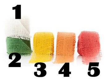 NO4 - burlap Ribbon - 5cm