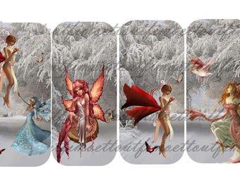 4 bookmarks digital 2(envoi mail) snow fairy