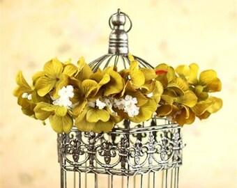 Sage green Flower Halo Crown
