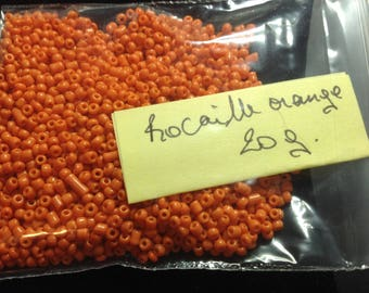 20G Orange seed beads