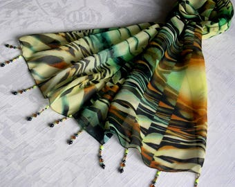 Scarf - scarf & pearls REF. 222 *-abstract mot_if