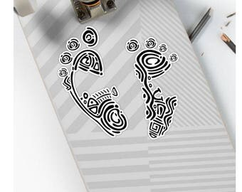 footprints stickers, notebook stickers, travel stickers, baby feet stickers, footprint decal, human footprints, baby shower stickers,