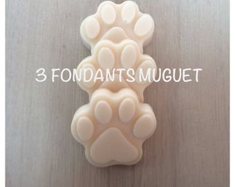Wax melt (x 3), Lily shaped tart fragrance