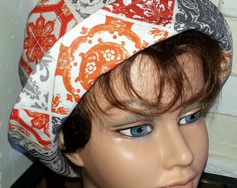 "Cotton rain hat orange coating ""bucket"" shape"