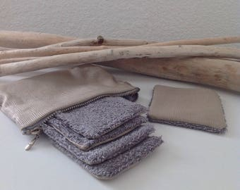"""Kit """"Of Makyante"""" beige and grey fabric"""