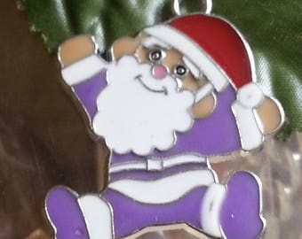 1 pendant in enamel alloy for 40 mm Christmas