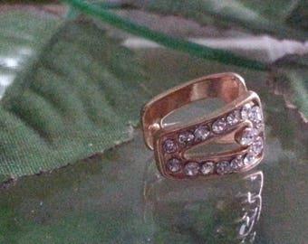1 Crystal brass bails rhinestone ice pinch, gold, 13 x 9 x 8 mm, hole: 5 x 10 mm. PIN: 1 mm