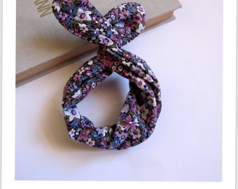 floral purple pattern hair headband