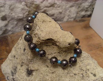 "Bracelet ""spring lightness"" blue and grey"