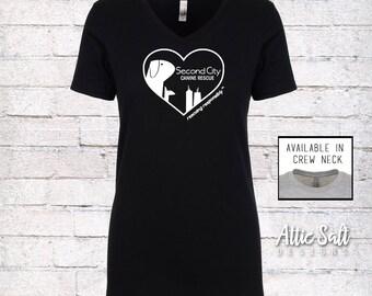 Women's Fitted T-Shirt - Heart Logo
