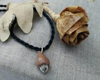 Unique porcelain necklace