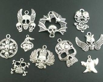 (P60) skull charms pendants