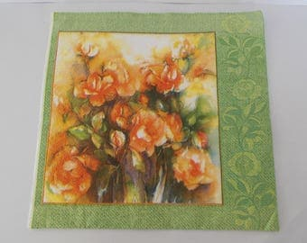 flowers paper towel