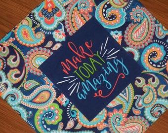 Paisley pillow cover, Inspirational saying pillow, custom pillow, custom pillow cover, monogrammed pillow cover, throw pillow cover
