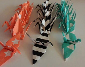 Set of origami cranes: Charly Collection