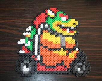 Mario Kart (Bowser) Hama beads