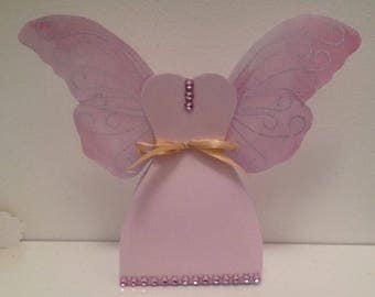 Dragees boxes pink & gold fairy princess
