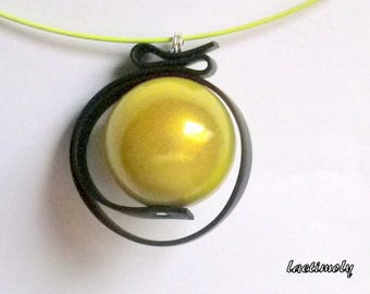 fantasy Choker necklace lime green