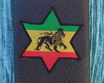 """Lion of Judah"" leather tobacco pouch"