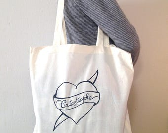 Tote Bag 100% unbleached cotton - made heart-