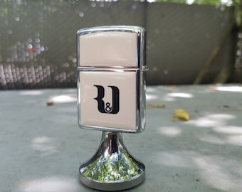 1981 Eurand America Inc Zippo Lighter with Fixed Stand: Vintage-Collectible-Rare-Tobacciana-Americana-Antique