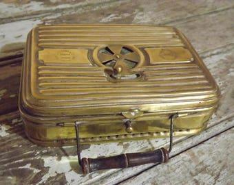 19th Century French Brass Foot Warmer By 'Girodon & Co' Lyon