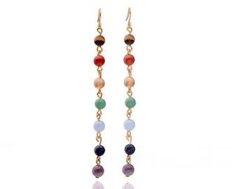 Beautiful Pearl Gold turquoise stone gold filled earring