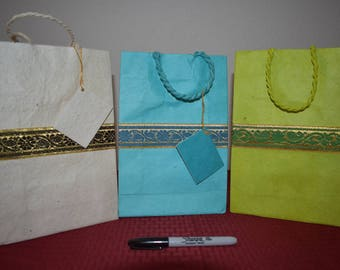 Handmade Gift Bags 10 X 6.5  (Pack of 3) Made In Nepal