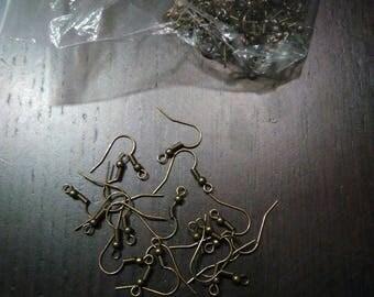 set of 96 color earrings hook bronze