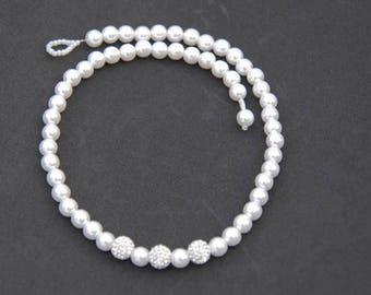 Classic Pearl Crystal Necklace