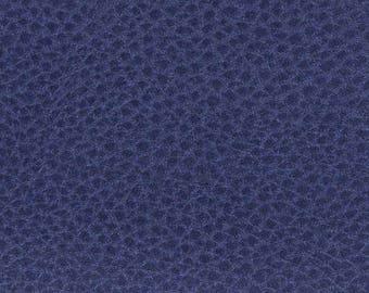 fabric faux leather Navy Blue iridescent 25 cm x 69 cm