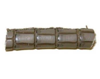Taupe napa crocodile leather cord.