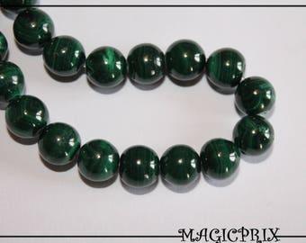 Beautiful Malachite Green 9 mm m2612 O bead