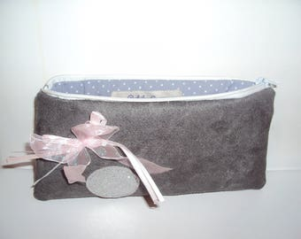 Cute little make up pouch grey