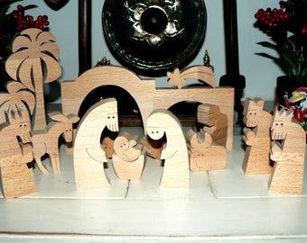 Modern wood Nativity subjects