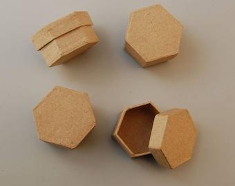 Set of 4 small 5 x 2.5 cm - Ref 16711/024VAE26HE hexagonal boxes (box hexagonal)-until the stock!