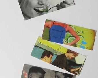 Mini bookmarks inspired kitchen artwork