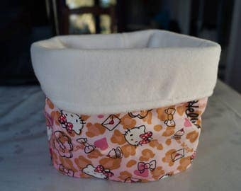Pink fleece neck warmer or Snood