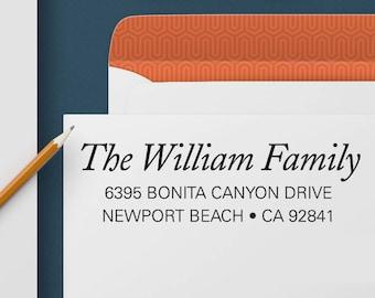 Return Address Stamp 341 - Self Inking Stamp, Custom Address Stamp, Custom Stamp, Personalized Address Stamp, Wedding and Housewarming Gift