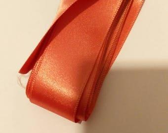 Ribbons Pink salmon polyester 25 mm to 1 meter