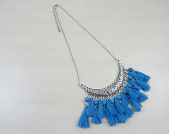 Necklace with tassels and beads