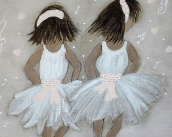 wall panel depicting the little ballerina for girls room
