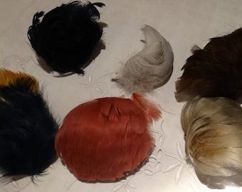 Set of vintage feather Hat