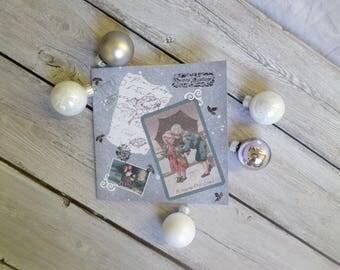 """Greeting card square """"Christmas past"""""""