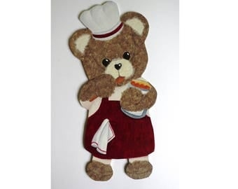 "Honey Bear ""cook"" wood and paper"