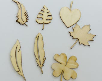7 different sheets wooden cutout embellishment