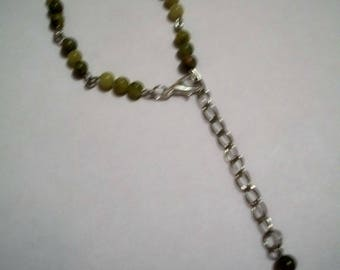 Lime green semi precious beads bracelet