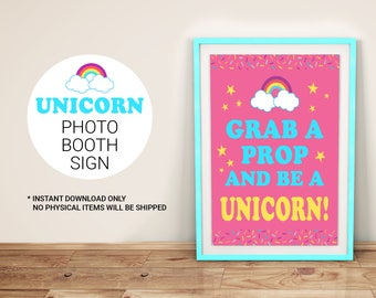 Unicorn Photo Booth Sign